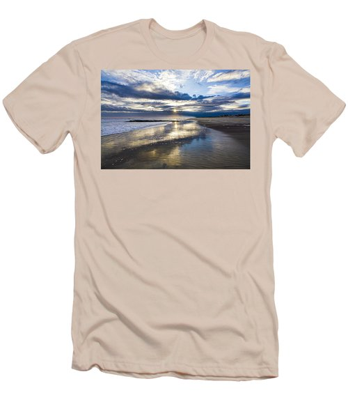 Jetty Four Sunset Men's T-Shirt (Athletic Fit)