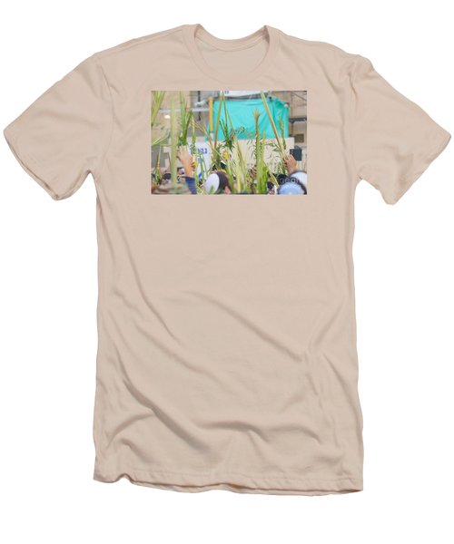 Jewish Sunrise Prayers At The Western Wall, Israel 13 Men's T-Shirt (Athletic Fit)
