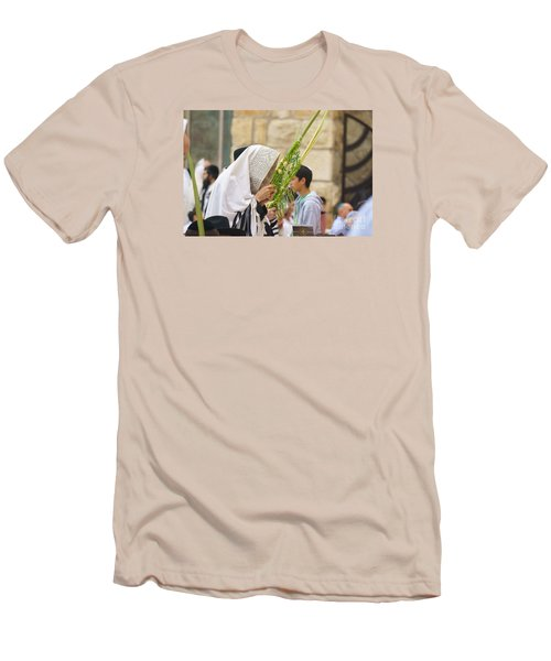 Jewish Sunrise Prayers At The Western Wall, Israel 6 Men's T-Shirt (Athletic Fit)
