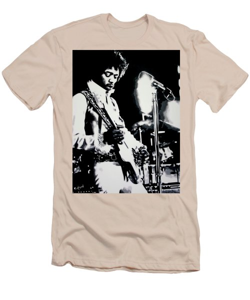Jimmy Hendrix Purple Haze Men's T-Shirt (Athletic Fit)
