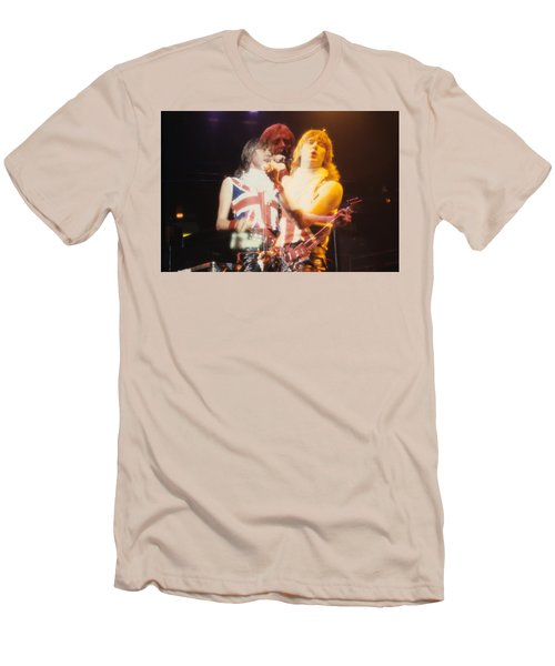 Joe And Phil Of Def Leppard Men's T-Shirt (Slim Fit) by Rich Fuscia