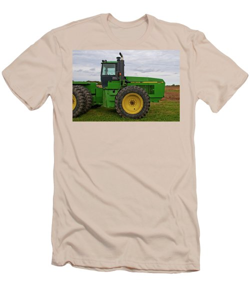 Men's T-Shirt (Slim Fit) featuring the photograph John Deere Green 3159 by Guy Whiteley
