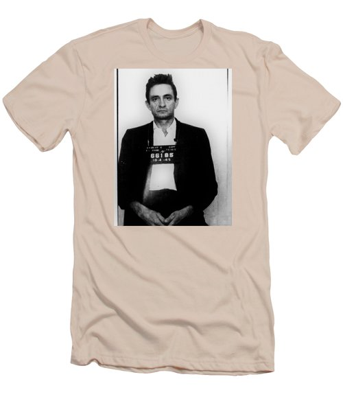 Johnny Cash Mug Shot Vertical Men's T-Shirt (Athletic Fit)