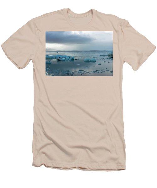 Men's T-Shirt (Athletic Fit) featuring the photograph Jokulsarlon, The Glacier Lagoon, Iceland 1 by Dubi Roman