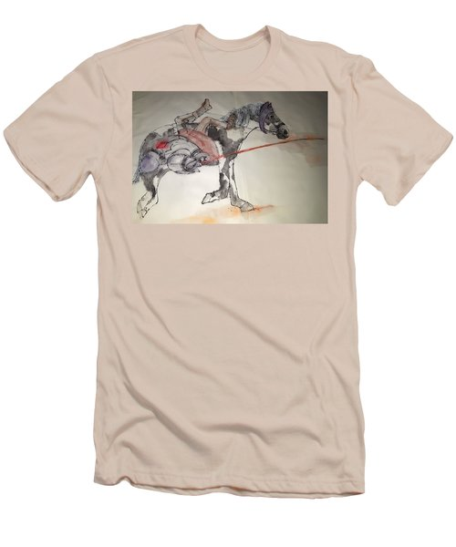 Jousting And Falcony Album  Men's T-Shirt (Slim Fit) by Debbi Saccomanno Chan