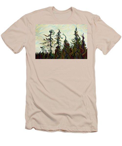 Joyful Pines, Whispering Lines Men's T-Shirt (Athletic Fit)