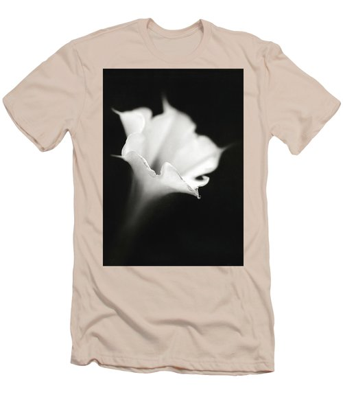 Men's T-Shirt (Slim Fit) featuring the photograph Just A White Flower by Eduard Moldoveanu