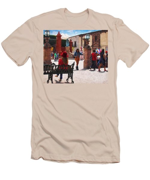 Men's T-Shirt (Slim Fit) featuring the photograph Just Before The Wedding by John Kolenberg