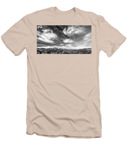 Men's T-Shirt (Slim Fit) featuring the photograph Just The Clouds by Jon Glaser