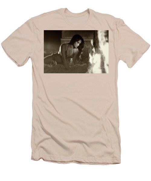 Kamasutra Girl 3 Men's T-Shirt (Slim Fit) by Kiran Joshi