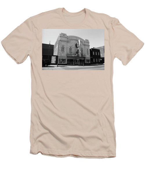 Men's T-Shirt (Slim Fit) featuring the photograph Kansas City - Gem Theater Bw by Frank Romeo