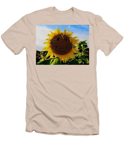 Kansas Sunflower Men's T-Shirt (Slim Fit) by Keith Stokes