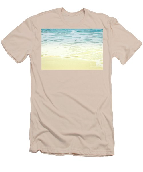 Kapalua Beach Dream Colours Sparkling Golden Sand Seafoam Maui Men's T-Shirt (Slim Fit) by Sharon Mau