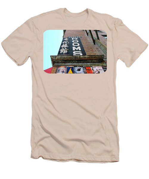 Men's T-Shirt (Slim Fit) featuring the photograph Keefer Rooms by Ethna Gillespie