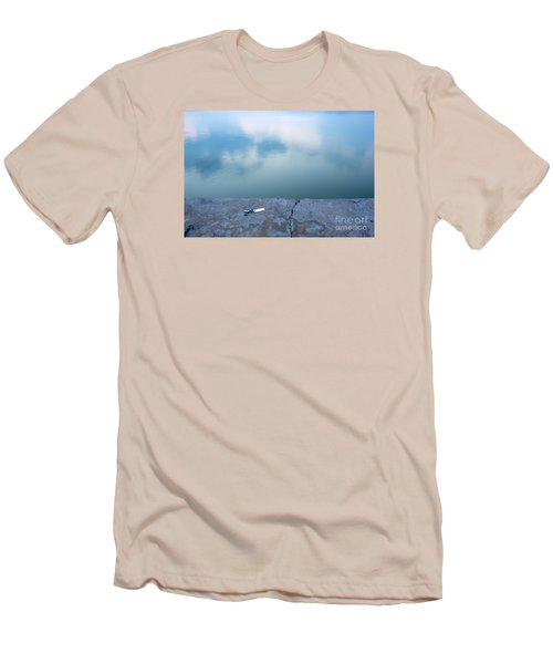 Men's T-Shirt (Slim Fit) featuring the photograph Key On The Lake Shore by Odon Czintos