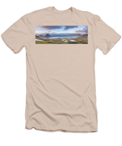 Kirkjufell And Grundarfjordur From On High Men's T-Shirt (Athletic Fit)