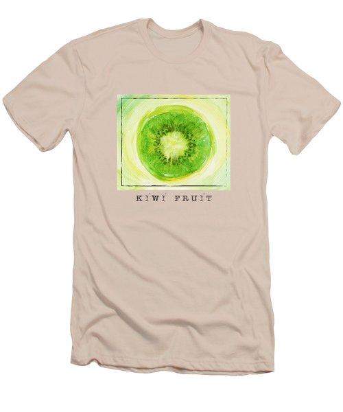 Kiwi Fruit Men's T-Shirt (Slim Fit) by Kathleen Wong