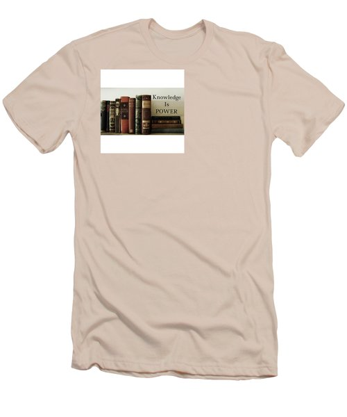 Knowledge Is Power Men's T-Shirt (Slim Fit) by Patricia E Sundik