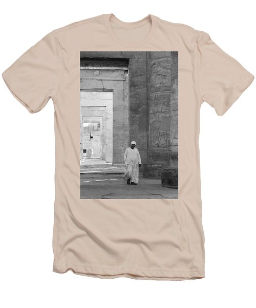 Kom Ombo Temple Men's T-Shirt (Slim Fit) by Silvia Bruno