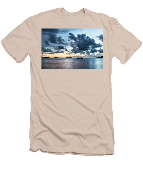 Kota Kinabalu Sunset Men's T-Shirt (Athletic Fit)