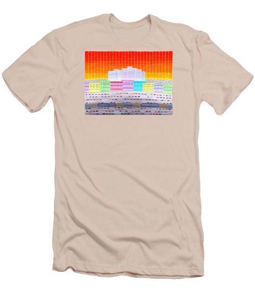 L.a. Cityscape Men's T-Shirt (Athletic Fit)