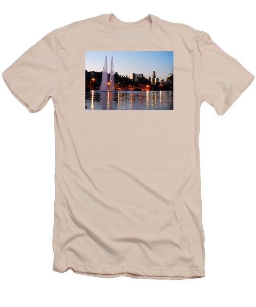 Men's T-Shirt (Slim Fit) featuring the photograph La From Echo Lake by James Kirkikis