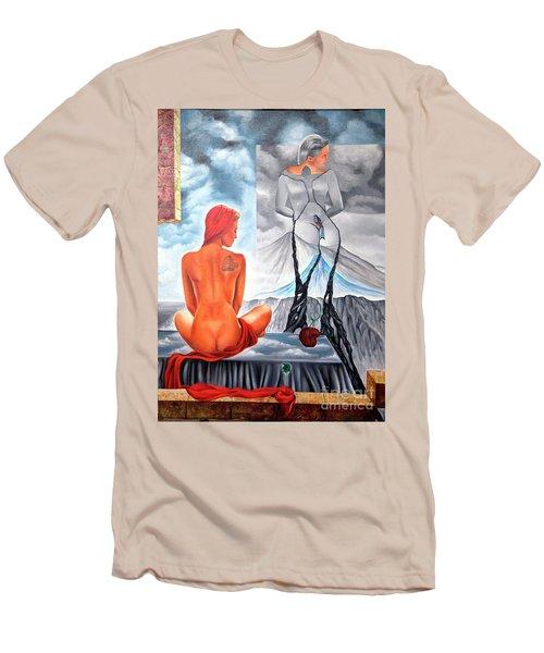 La Marcha Mas Larga Men's T-Shirt (Slim Fit) by Jorge L Martinez Camilleri