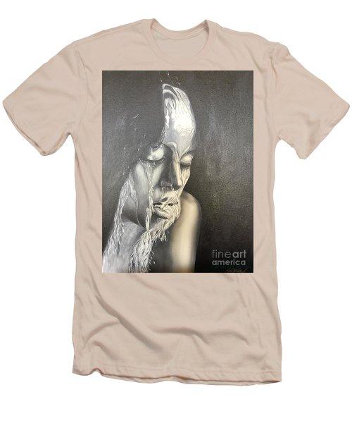 Lady Enjoying A Shower Men's T-Shirt (Athletic Fit)