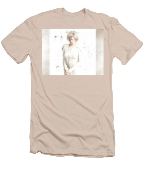 Lady In White Men's T-Shirt (Athletic Fit)