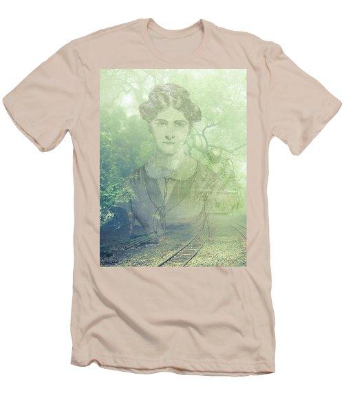 Lady On The Tracks Men's T-Shirt (Slim Fit)