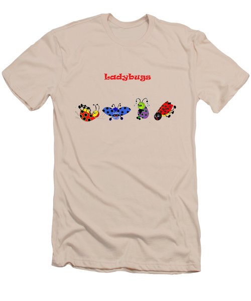 Ladybugs T-shirt Men's T-Shirt (Slim Fit) by Karen Beasley