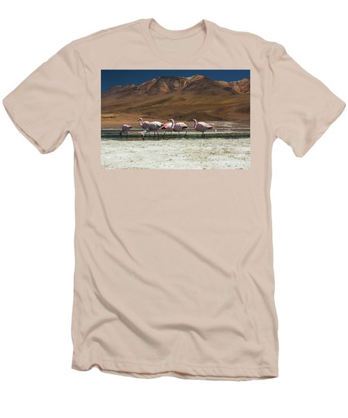 Laguna Colorada, Andes, Bolivia Men's T-Shirt (Athletic Fit)