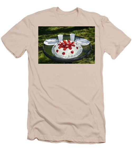 Men's T-Shirt (Athletic Fit) featuring the photograph Laid Summer Table by Kennerth and Birgitta Kullman