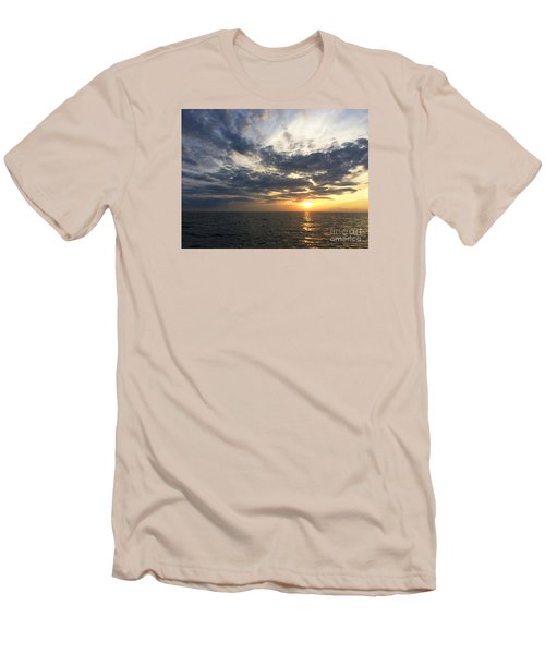 Lake Erie Sunset Men's T-Shirt (Athletic Fit)