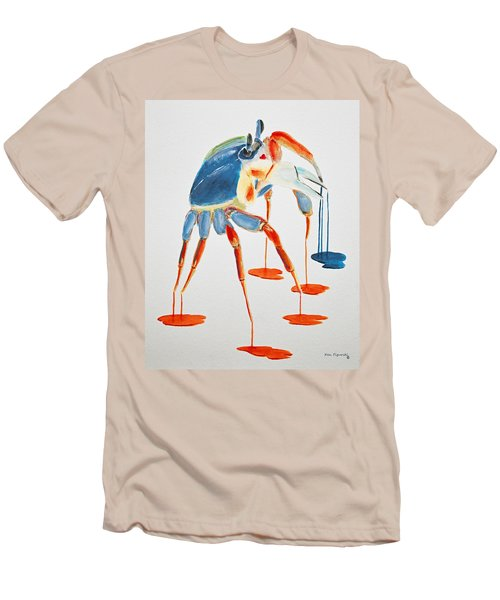Land Crab Fight Stance Men's T-Shirt (Athletic Fit)