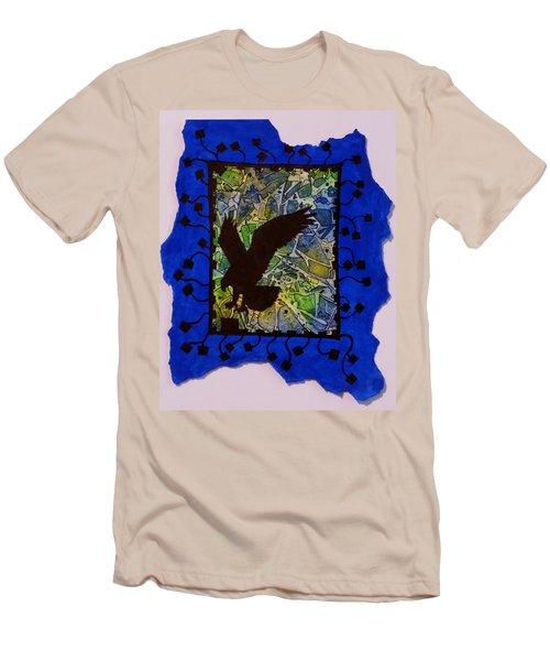 Landing Eagle Silhouette Men's T-Shirt (Athletic Fit)