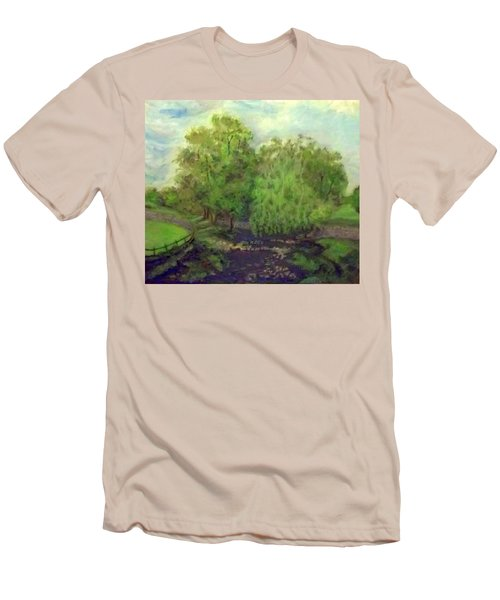 Landscape With Trees Men's T-Shirt (Athletic Fit)
