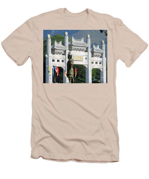 Men's T-Shirt (Slim Fit) featuring the photograph Lantau Island 51 by Randall Weidner