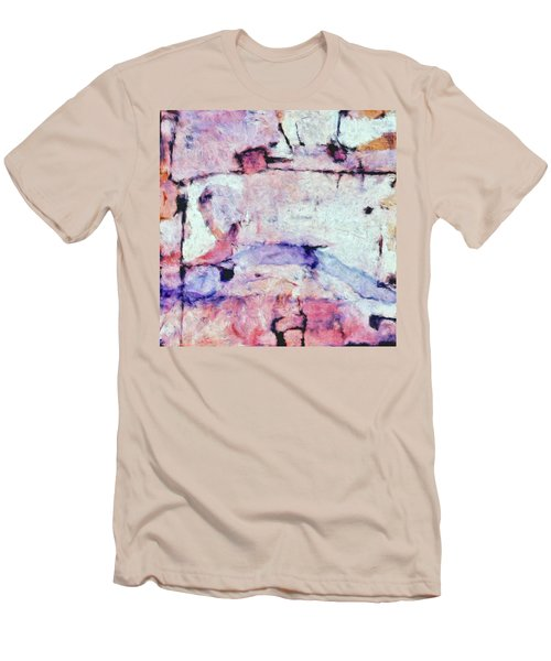 Men's T-Shirt (Slim Fit) featuring the painting Laredo by Dominic Piperata