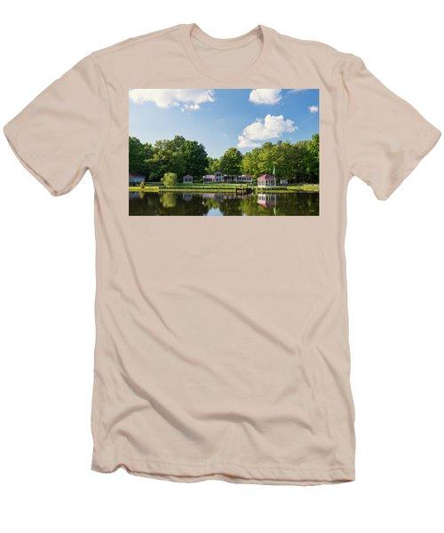 Larry Buckner - King George Men's T-Shirt (Slim Fit) by Dana Sohr