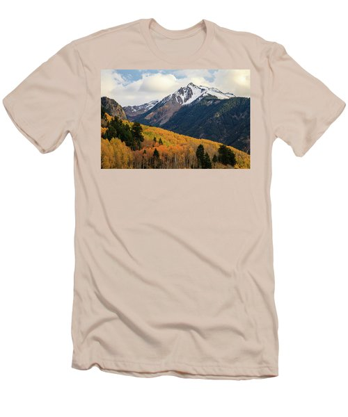 Men's T-Shirt (Athletic Fit) featuring the photograph Last Light Of Autumn by David Chandler
