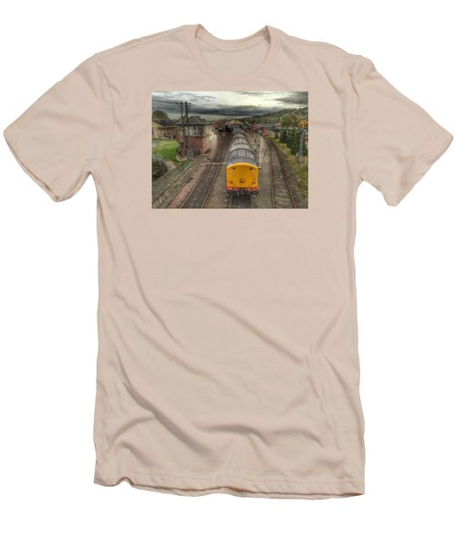 Men's T-Shirt (Slim Fit) featuring the photograph Last Train To Manuel by RKAB Works