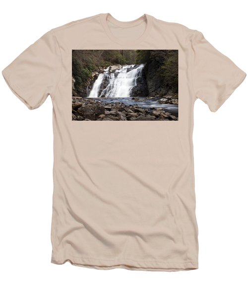 Men's T-Shirt (Slim Fit) featuring the photograph Laurel Falls In Spring #1 by Jeff Severson