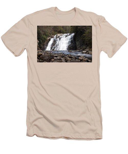 Laurel Falls In Spring #1 Men's T-Shirt (Slim Fit) by Jeff Severson