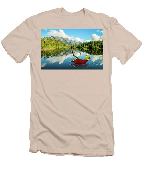 Men's T-Shirt (Slim Fit) featuring the digital art Lazy Days by Nathan Wright