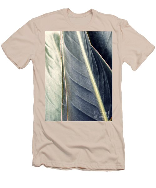 Leaf Abstract 14 Men's T-Shirt (Slim Fit) by Sarah Loft