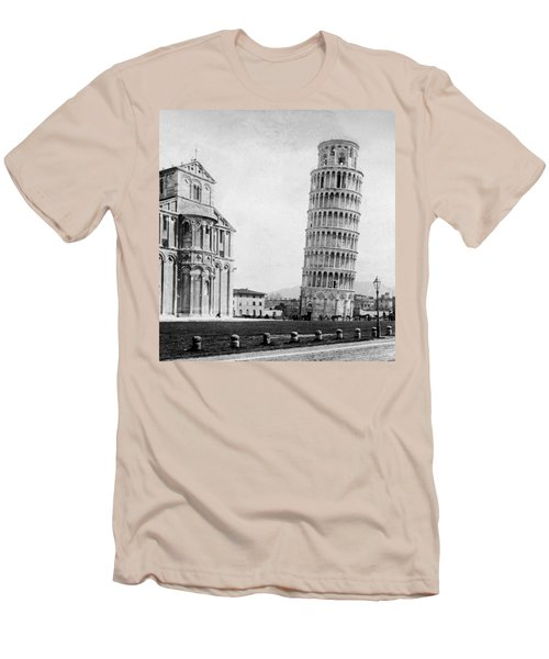 Leaning Tower Of Pisa Italy - C 1902  Men's T-Shirt (Athletic Fit)