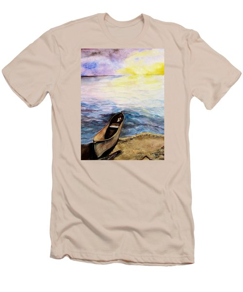 Men's T-Shirt (Slim Fit) featuring the painting Left Alone by Lil Taylor
