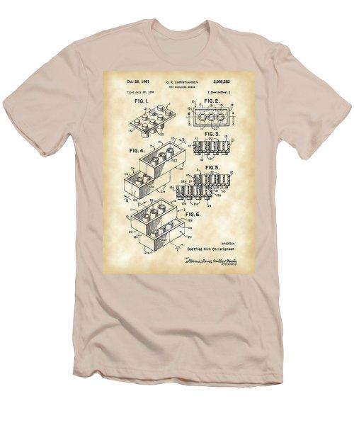 Lego Patent 1958 - Vintage Men's T-Shirt (Slim Fit) by Stephen Younts