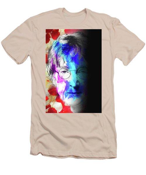 Men's T-Shirt (Athletic Fit) featuring the digital art Lennon by John Haldane